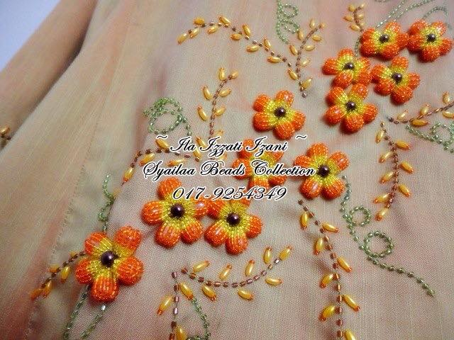 How To Bead Embroidery Flower Simple Craft Ideas