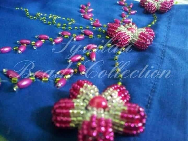bead embroidery flower