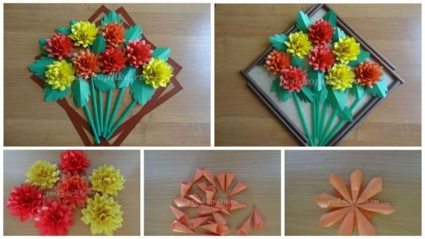 How to make dahlias wall art from paper