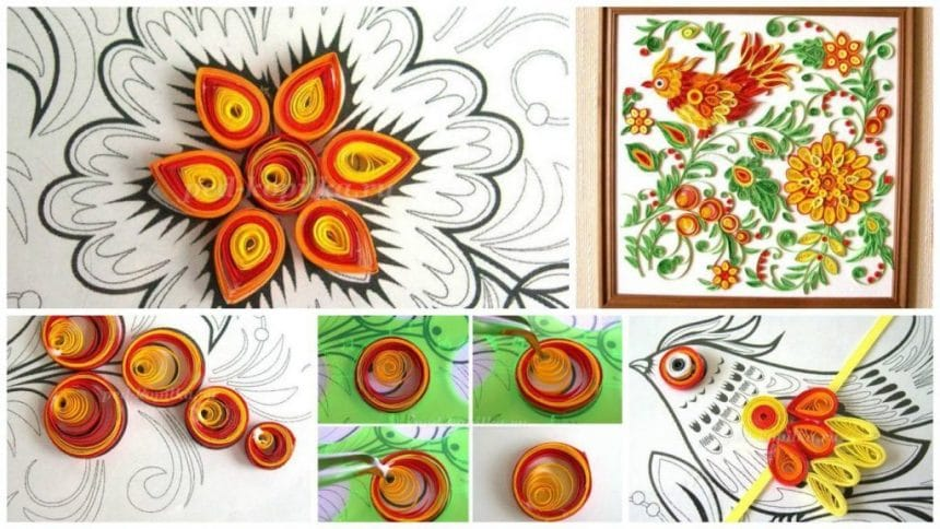 How to painting in quilling techniques