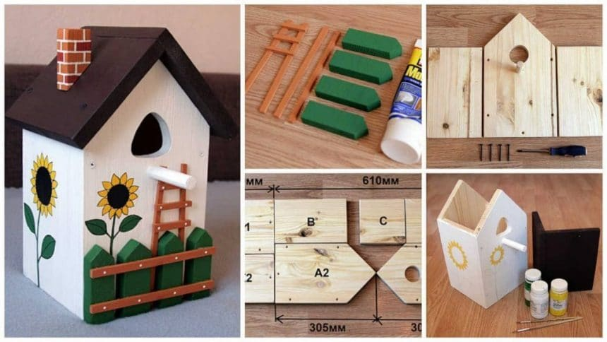 How to make decorate a birdhouse