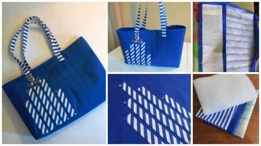 How to make beach bag for the sea promenade