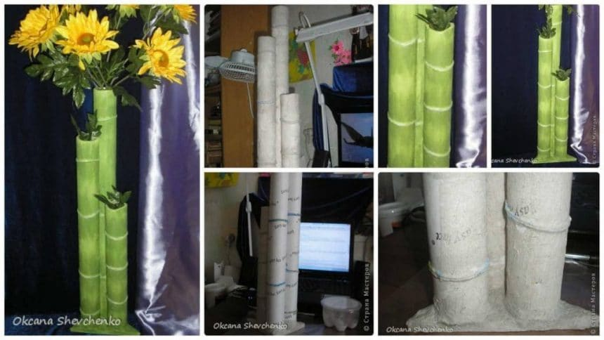 How to make mini bamboo vase