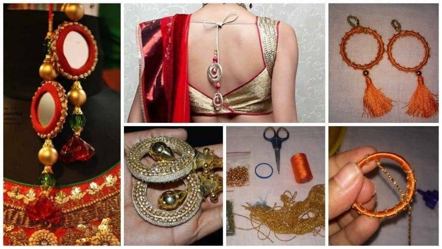 How to make saree blouses latkan