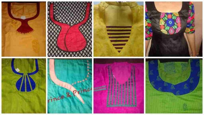Different types of kurti neck patterns