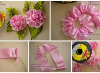 How to make rose from satin ribbon