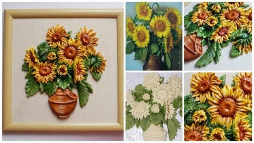 How to make sunflower panel