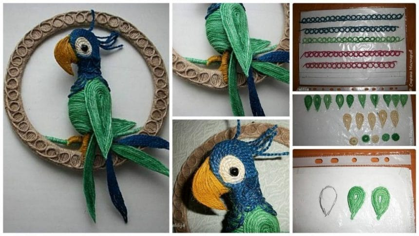 How to make jute parrots
