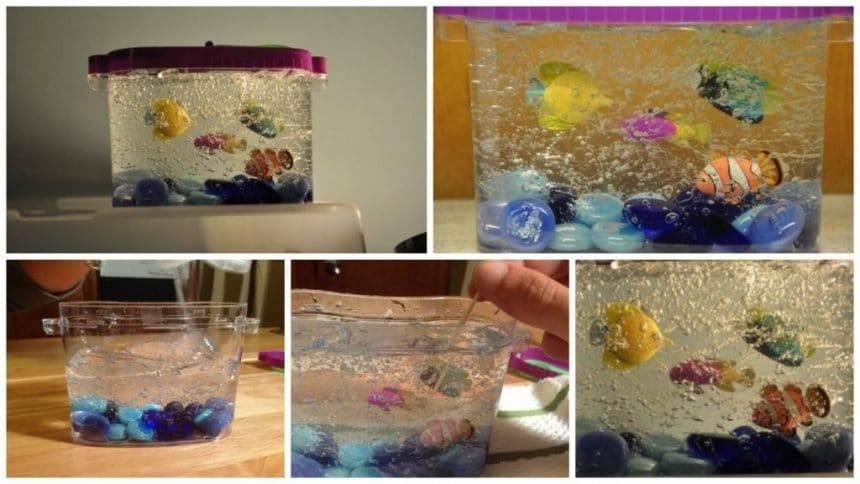 How to make mini decorative aquarium