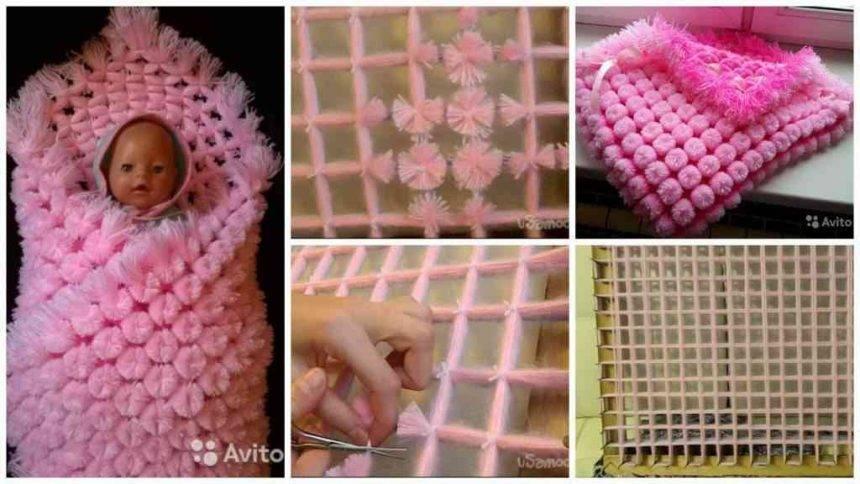 How to make plaid pompoms