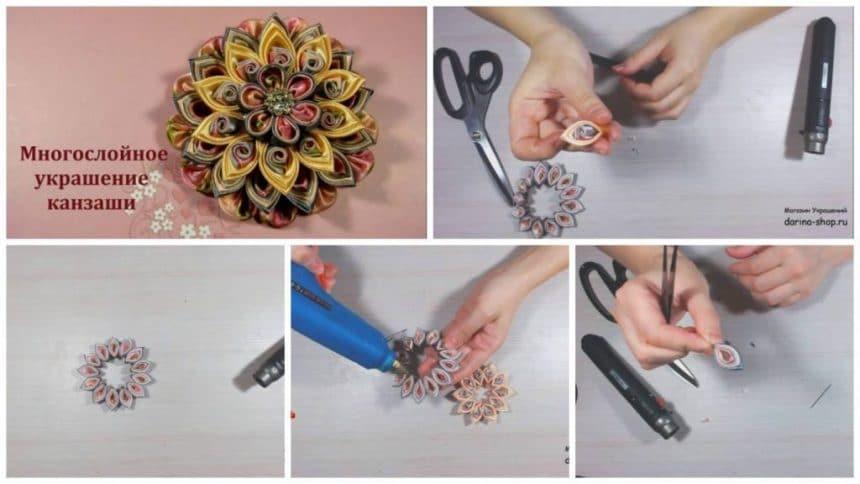 How to make laminated decoration kanzashi
