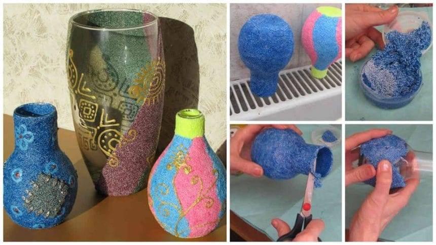 How to make glass flower vase
