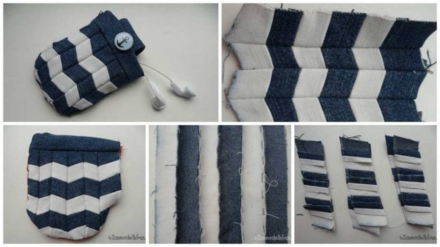 How to make denim pouch for small items