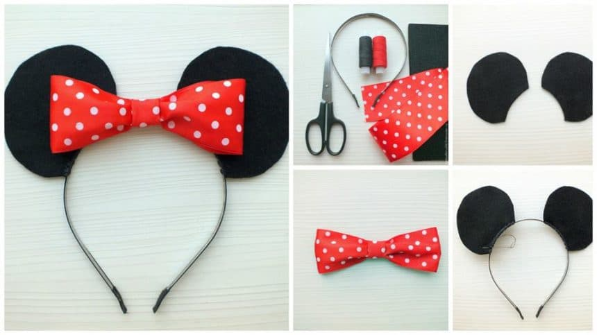"""How to make """"Minnie Mouse"""" hair rim"""
