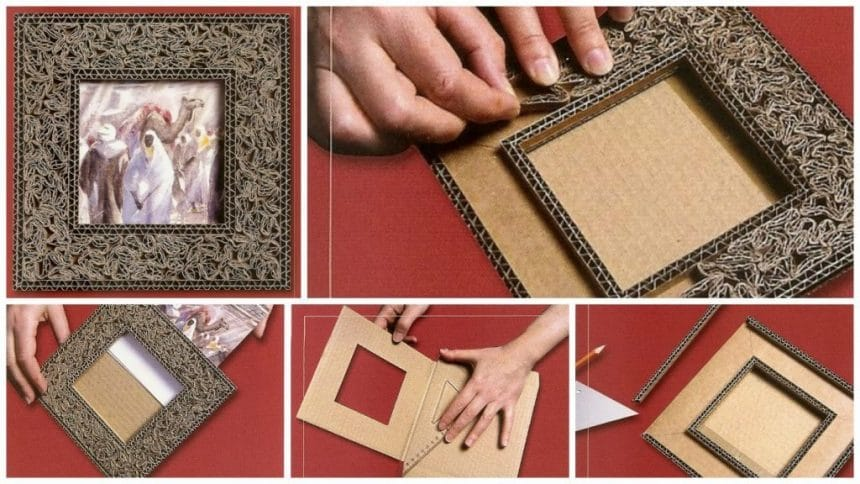 Making a small oriental cardboard frame