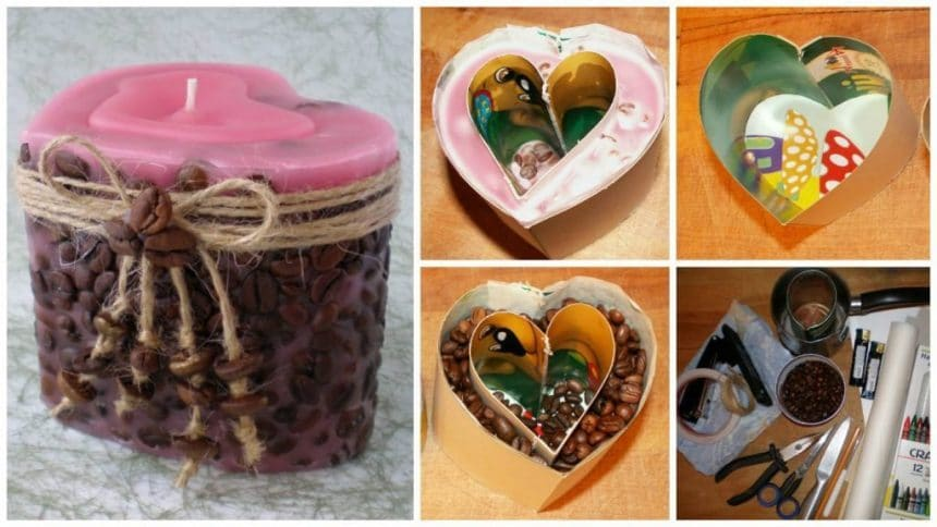 How to make candle for valentine