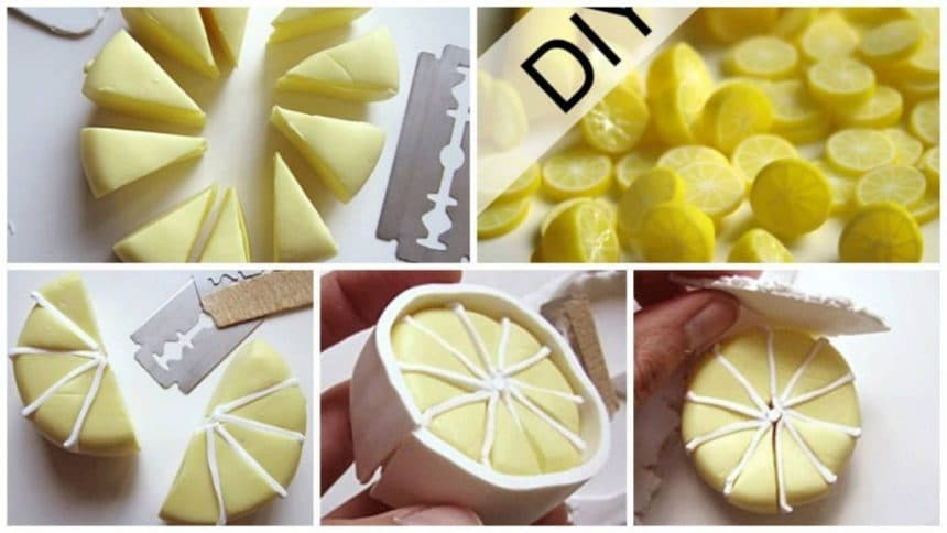 How to make lemon and half a lemon from clay