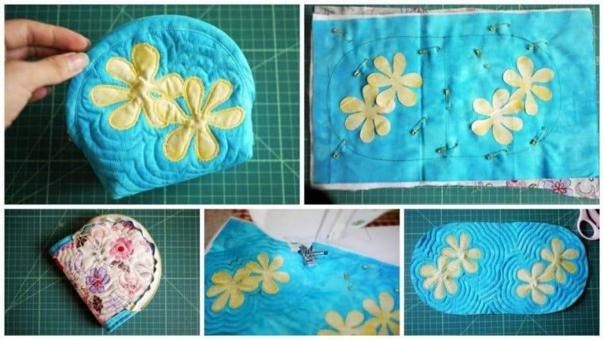 Make an hawaiian style cosmetic bag