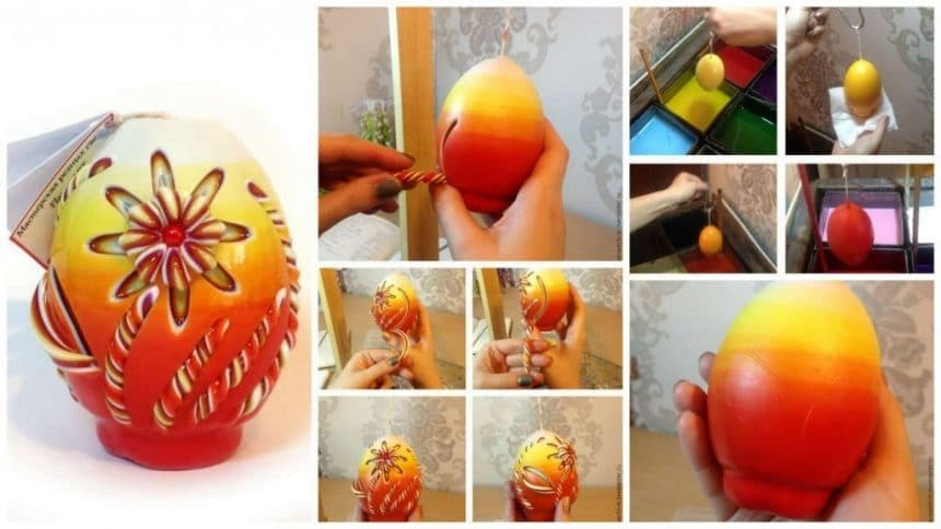 How to make carved easter candle carved