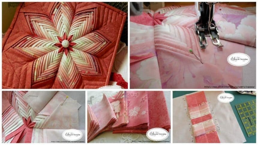 How to make star mat from patchwork