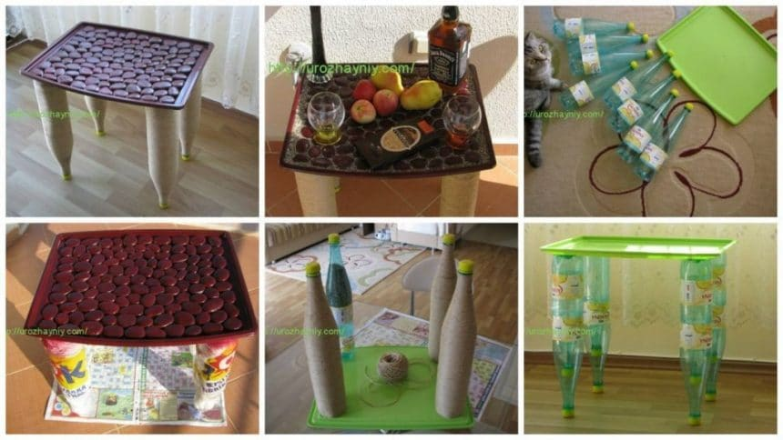 How to make a coffee table from bottle