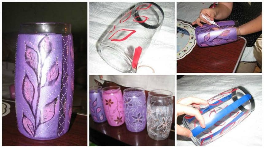 How to make decorating glass vase