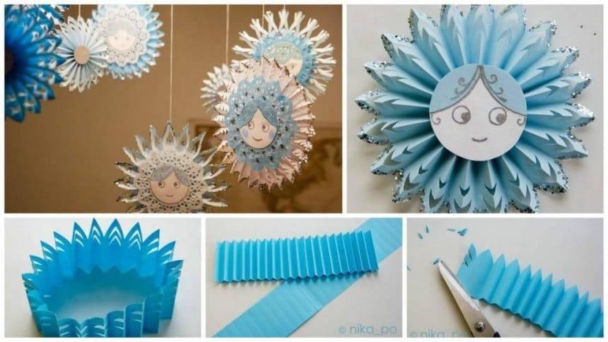 How to make snowflakes-socket