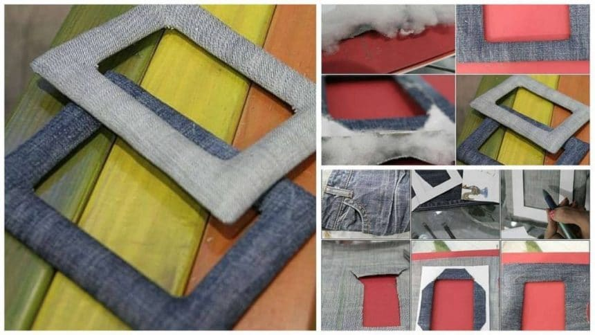 How to make photo frame from denim