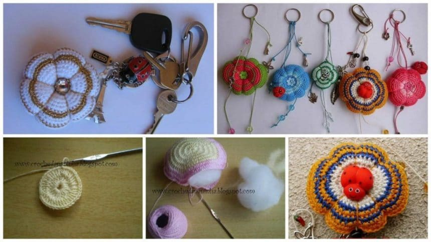 How to make crochet key chain