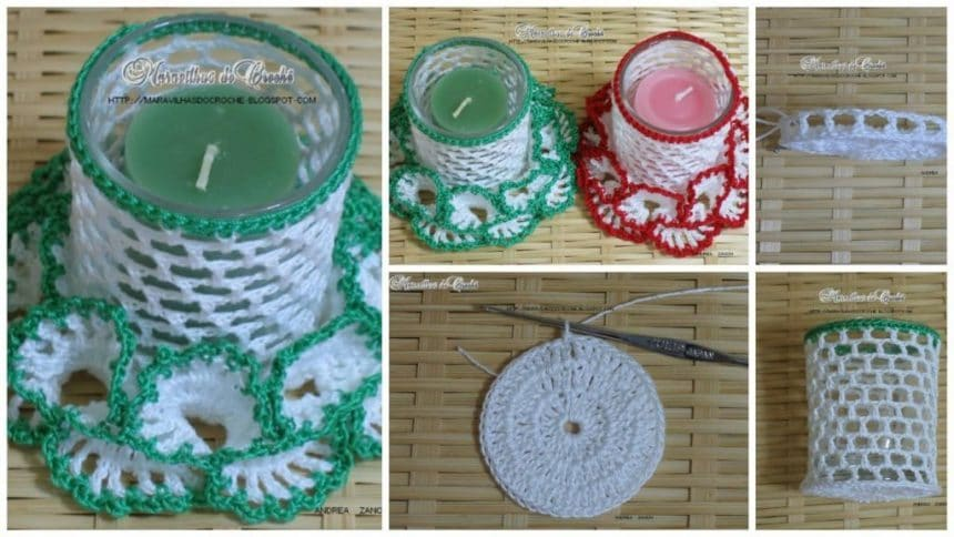 How to make knitting candle holder