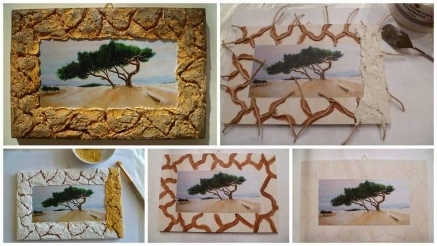 """How to make frame '""""Music of the desert """""""