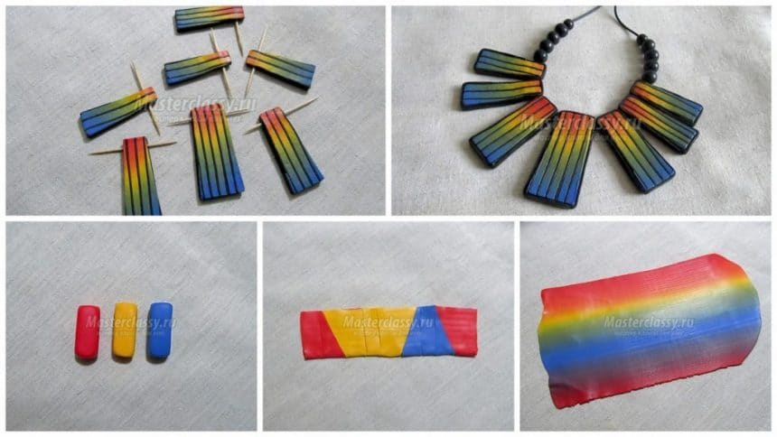 How to make necklace from polymer clay