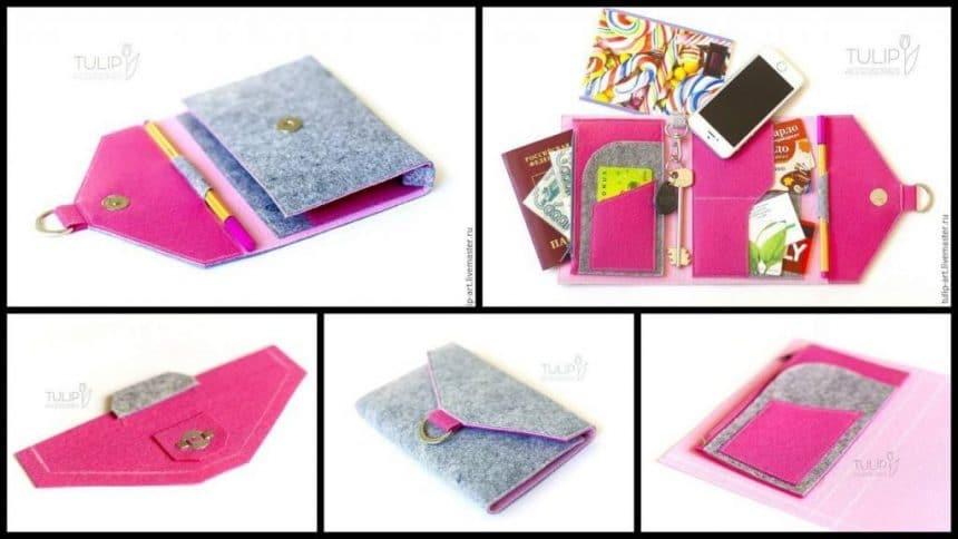 How to sew bright felt organizer bag