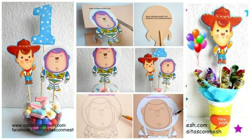 How do centerpieces molds toy story for children 's birthday