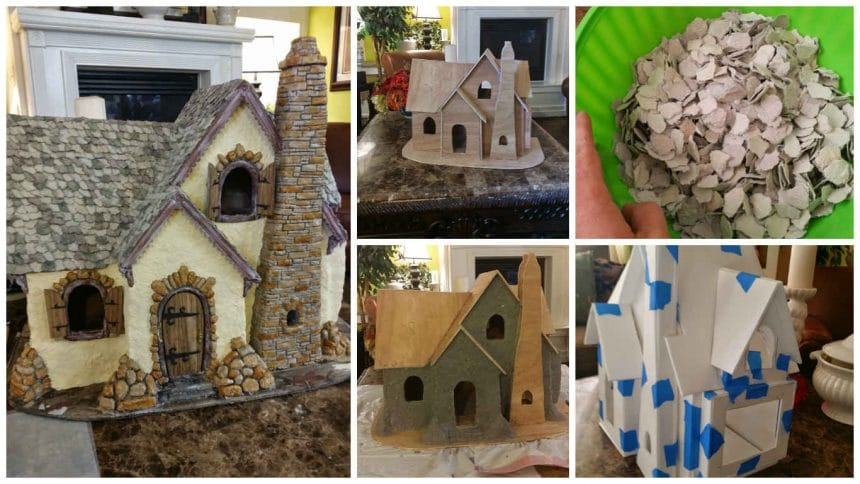 How to make house from paper mache