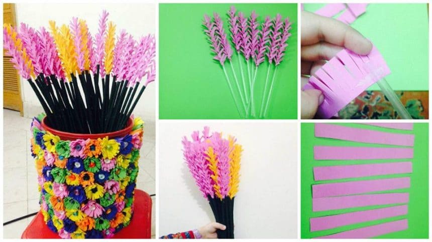 How to make diy flower and vase