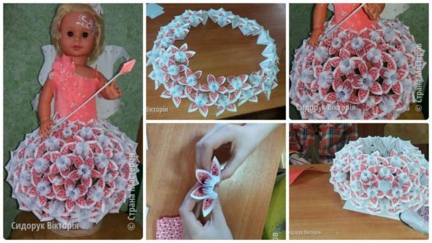 How to make paper clothes for doll