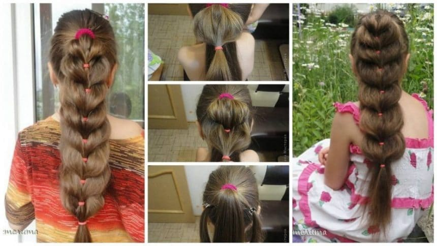 How to make easy heart ponytail hairstyle