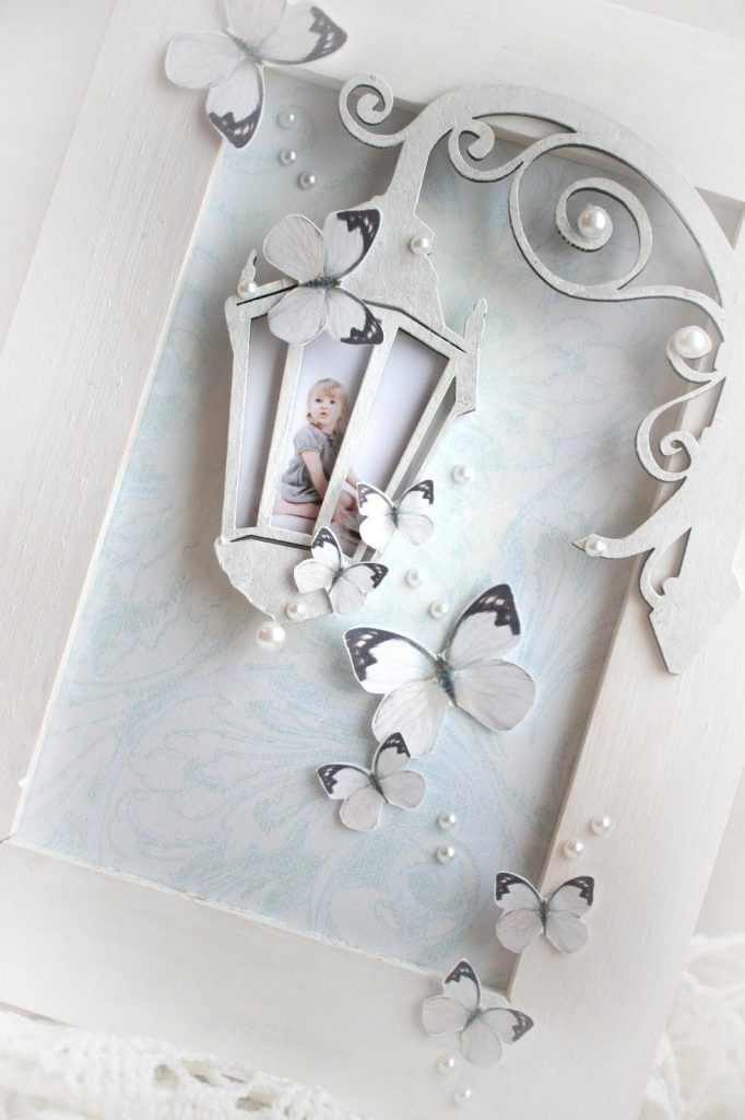 """Photo frame """"magic lantern"""" in the scrapbooking techniques 