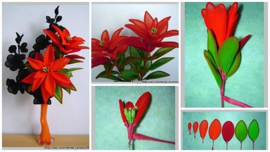 How to make nylon flower
