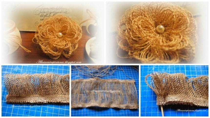 How to make flowers of burlap