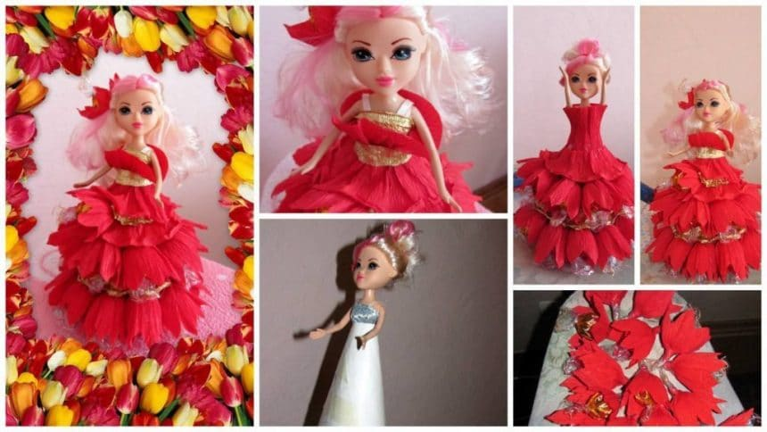 How to make doll bouquet of chocolates