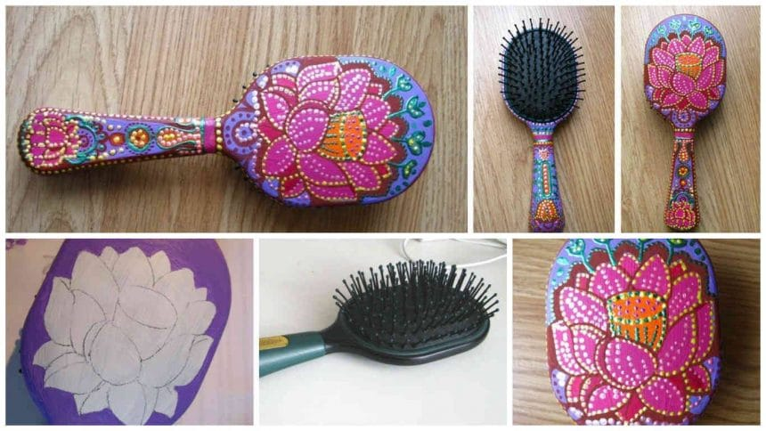 How to colorize old hairbrush