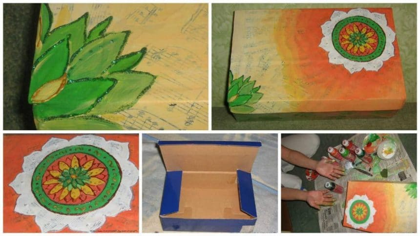 How to decorate cardboard box