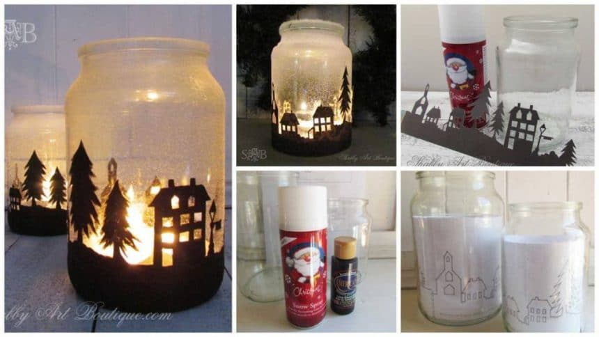How to make Christmas Lamp from empty cans