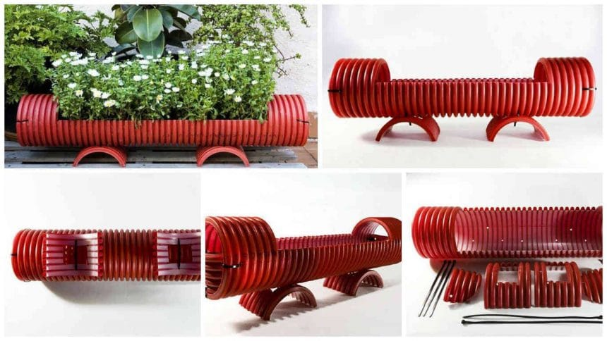 How to make container for plants from PVC pipe