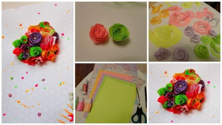 "How to make paper box ""Garden"" card"