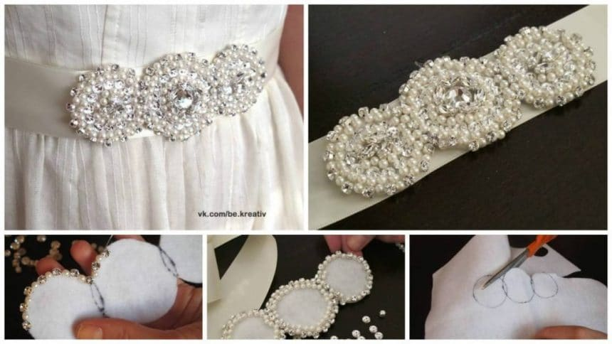 How to create stunning crystallized bridal sash