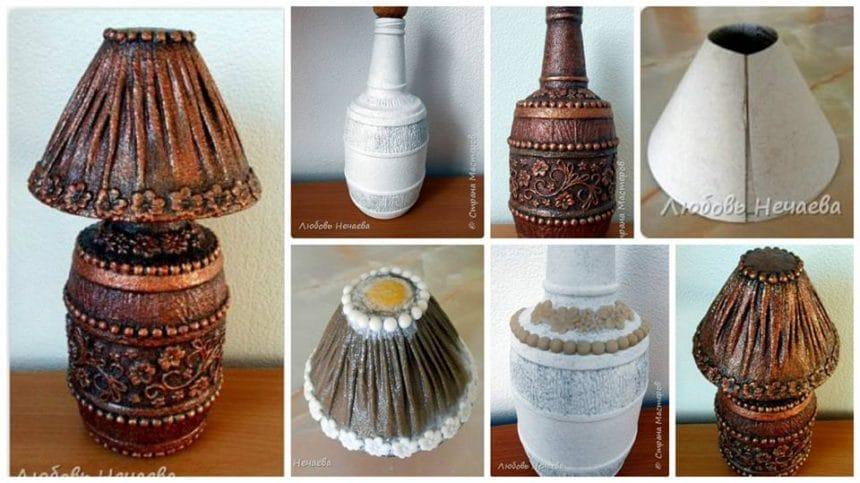 How to make bottle table lamp