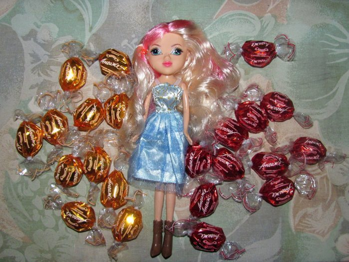 doll bouquet of chocolates